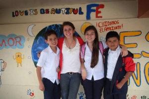 Alyssa Dinsmore (center left) in Costa Rica in 2013