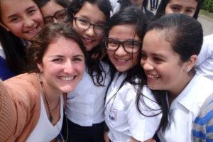 Alyssa Dinsmore (left) in Costa Rica in 2013