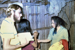 Loren Schulze (left) in Colombia in 1971