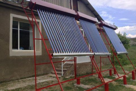 solar air heaters installed in darbas polyclinic by the cewp syunik region armenia 640x480