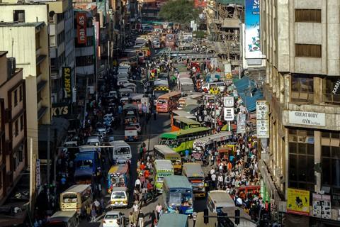 Kenya Nairobi urban scene