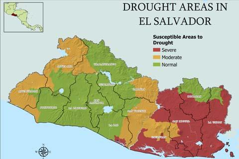 El Salvador GIS drought map